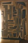 Rue Ravenstein 48-70 et Cantersteen 39-55, Bruxelles, extension du Shell Building en intérieur d'ilôt, grande salle de conférence avec une peinture d'Iris Jasinski (© T. Verhofstadt, photo 2019)