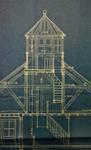 Dumontlaan 4, Koksijde, Villa 'Mieke Hill', coupe du belvédère, Gemeentearchief Koksijde, bouwdossiers, nr. 26 (1923)