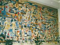 Grote Markt 1, Turnhout, hôtel de ville, peinture murale dans la salle de conseil (© T. Verhofstadt, photo 2001)
