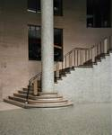 Galerie Ravenstein, Bruxelles, départ de l'escalier dans la rotonde (© T. Verhofstadt, photo 2019)